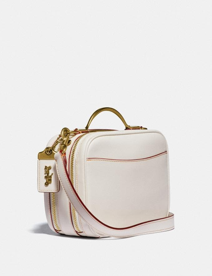 Coach Riley Lunchbox Bag Brass/Chalk New Women's New Arrivals Alternate View 1