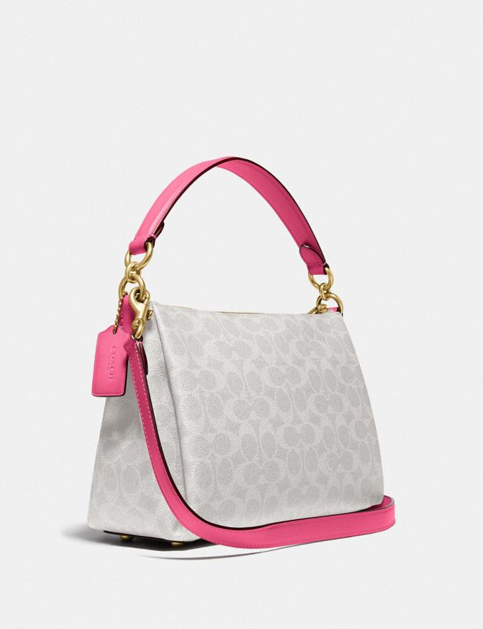 Coach Shay Crossbody in Signature Canvas B4/Chalk Confetti Pink DEFAULT_CATEGORY Alternate View 1