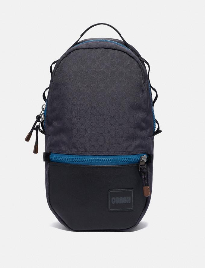 Coach Reversible Pacer Backpack in Signature Cordura® Fabric With Coach Patch Black Copper/Blue Multi
