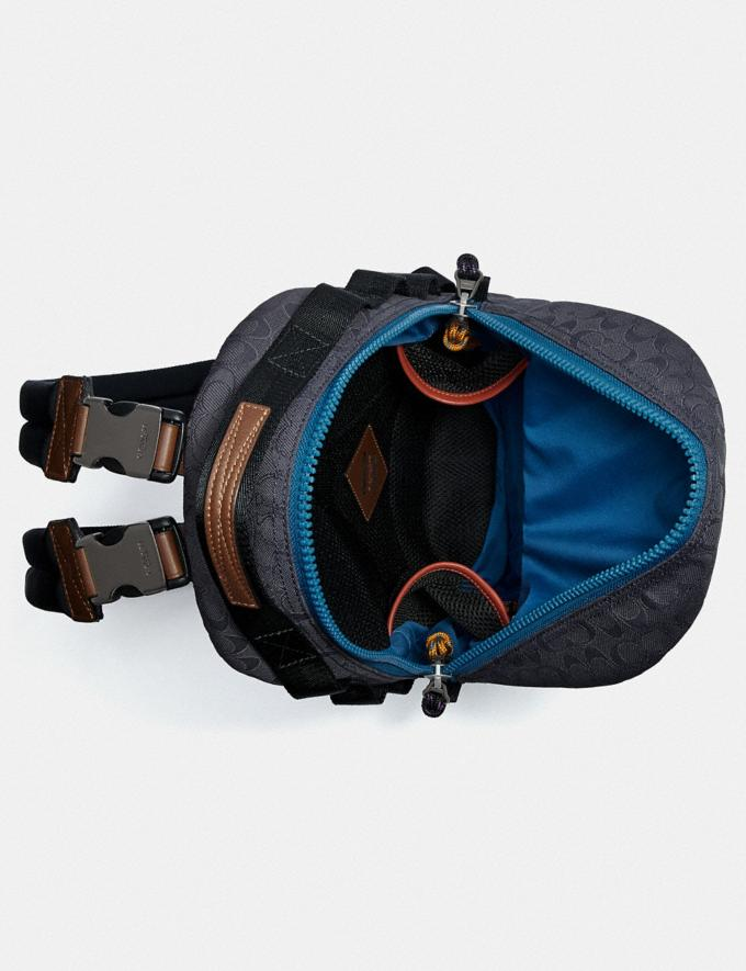 Coach Reversible Pacer Backpack in Signature Cordura® Fabric With Coach Patch Black Copper/Blue Multi  Alternate View 2