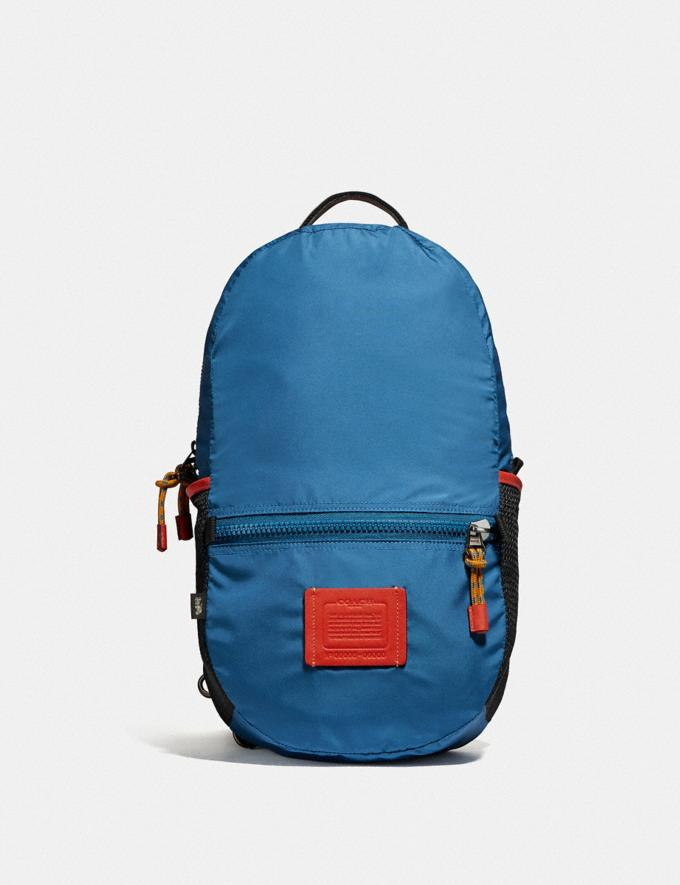 Coach Reversible Pacer Backpack in Signature Cordura® Fabric With Coach Patch Black Copper/Blue Multi  Alternate View 5