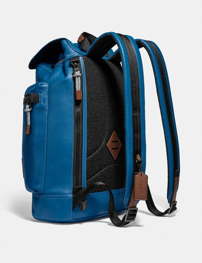 Coach Pacer Utility Backpack With Coach Patch Black Copper/Pacific Men Bags Alternate View 2