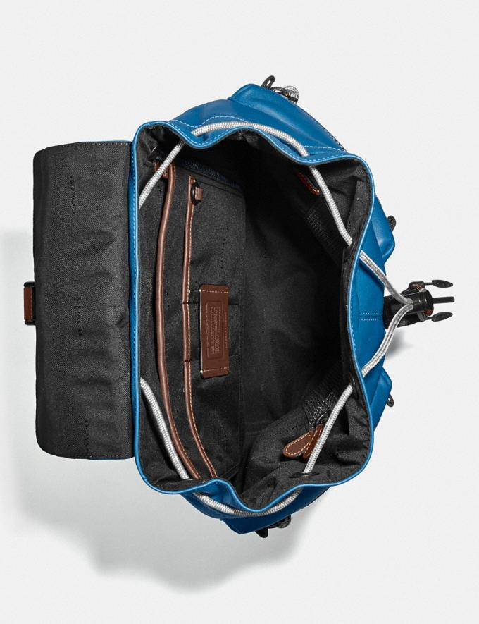 Coach Pacer Utility Backpack With Coach Patch Black Copper/Pacific Men Bags Alternate View 3