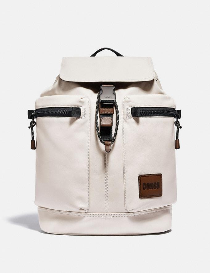 Coach Pacer Utility Backpack With Coach Patch Black Copper/Bone Men Edits Travel