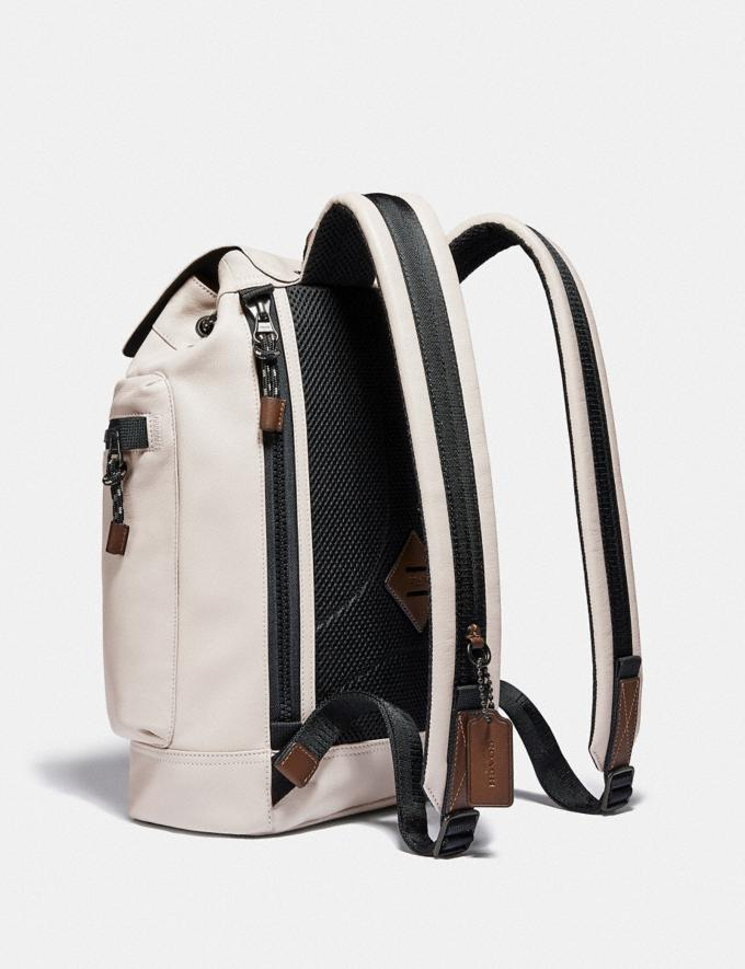 Coach Pacer Utility Backpack With Coach Patch Black Copper/Bone Men Edits Travel Alternate View 1