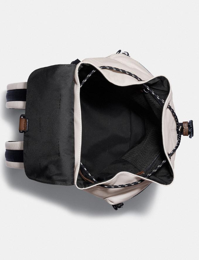 Coach Pacer Utility Backpack With Coach Patch Black Copper/Bone Men Edits Travel Alternate View 2