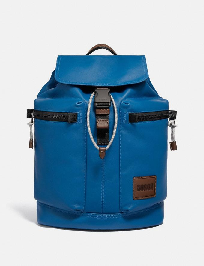 Coach Pacer Utility Backpack With Coach Patch Black Copper/Pacific New Men's New Arrivals Bags
