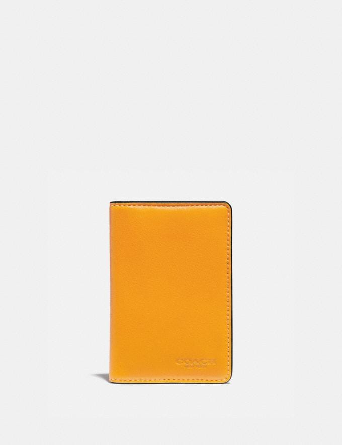 Coach Card Wallet With Signature Canvas Interior Pollen/Chalk Men Wallets