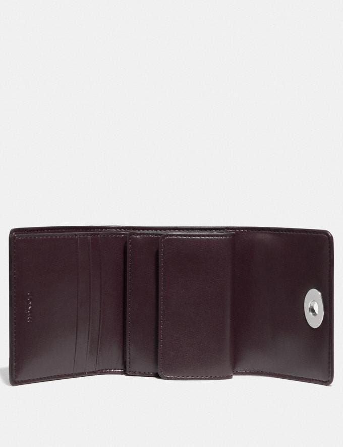 Coach Signature Turnlock Small Wallet B4/Black Women Small Leather Goods Small Wallets Alternate View 1