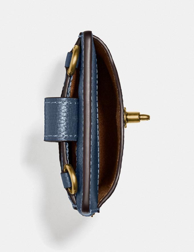 Coach Turnlock Chain Phone Crossbody Brass/Dark Denim Women Edits Work Alternate View 2
