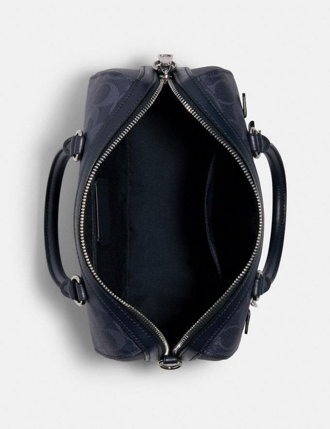 Coach Rowan Satchel in Signature Canvas Sv/Denim Midnight Clearance New To Clearance Alternate View 2