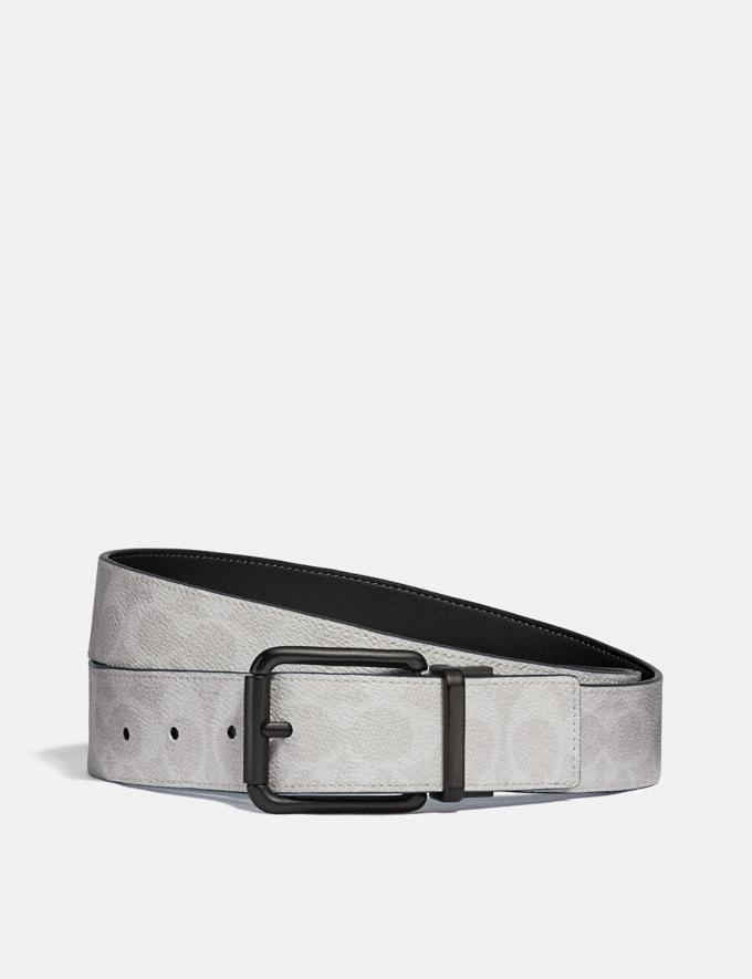 Coach Roller Buckle Cut-To-Size Reversible Belt, 38mm Chalk Black Men Accessories Belts