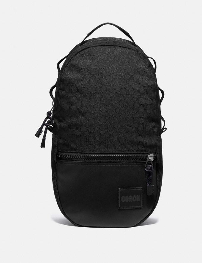 Coach Reversible Pacer Backpack in Signature Cordura® Fabric With Camouflage Apple Print and Coach Patch Black Copper/Black Multi