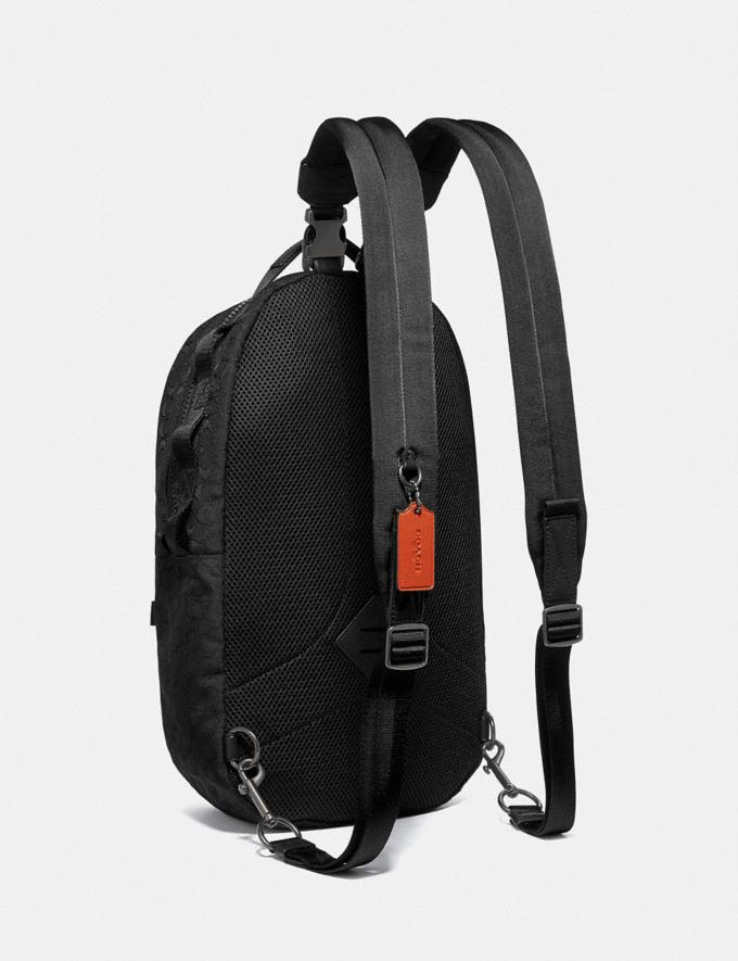 Coach Reversible Pacer Backpack in Signature Cordura® Fabric With Camouflage Apple Print and Coach Patch Black Copper/Black Multi  Alternate View 1