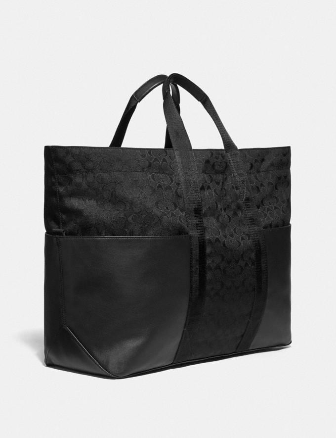 Coach Reversible Pacer Tote in Signature Cordura® Fabric With Camouflage Apple Print and Coach Patch Black Copper/Black Multi  Alternate View 1