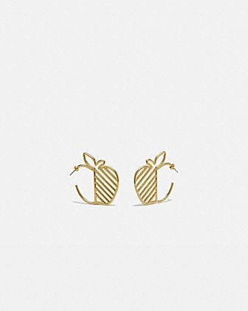 apple hoop earrings