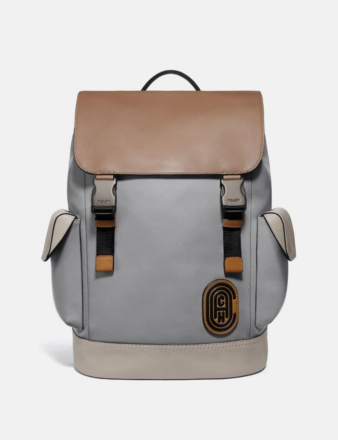 Coach Rivington Backpack in Colorblock With Coach Patch Ji/Washed Steel Men Bags Backpacks