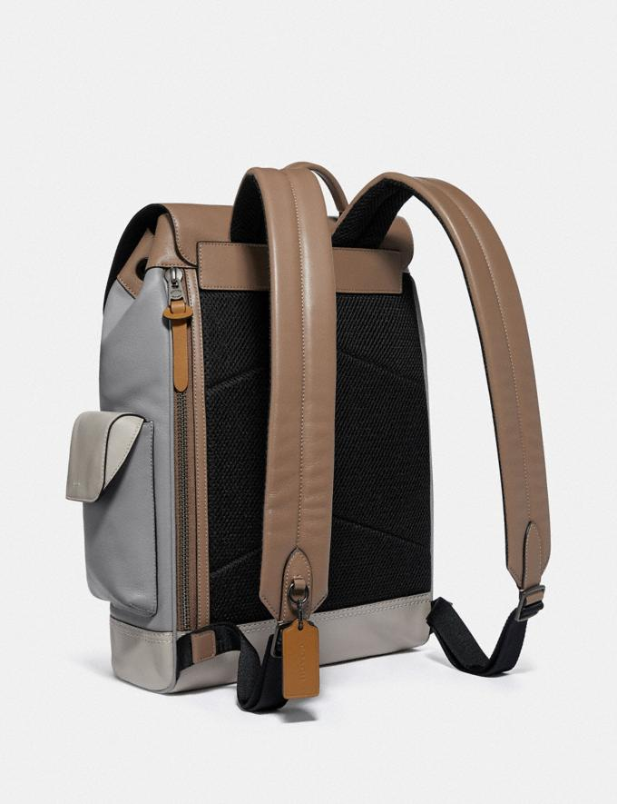 Coach Rivington Backpack in Colorblock With Coach Patch Ji/Washed Steel Men Bags Backpacks Alternate View 1