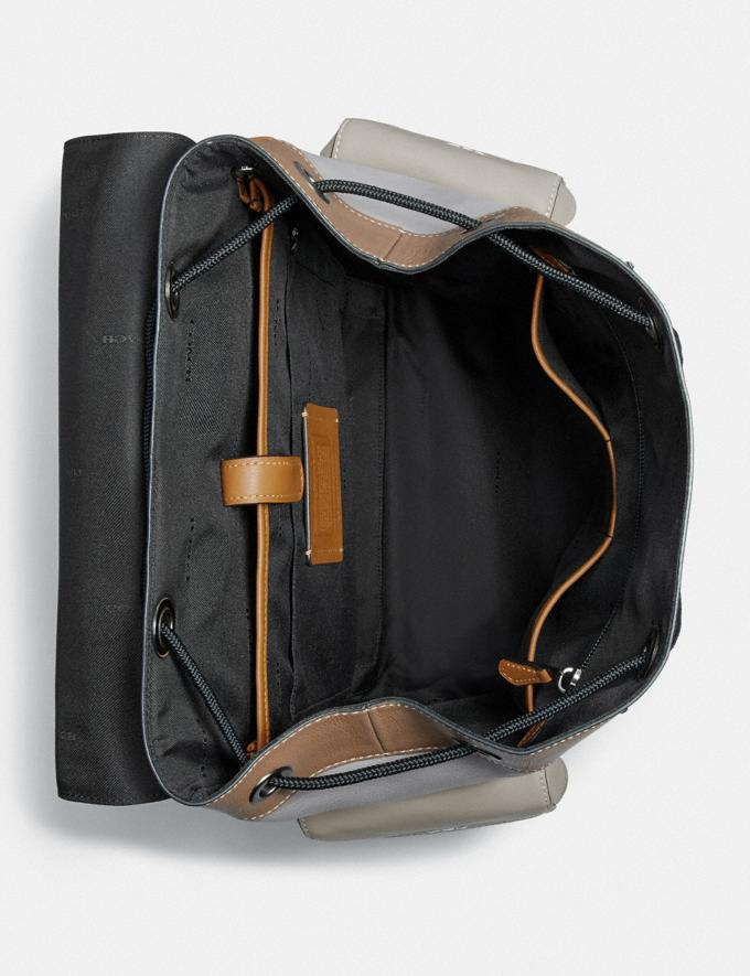 Coach Rivington Backpack in Colorblock With Coach Patch Ji/Washed Steel New Men's New Arrivals Alternate View 2