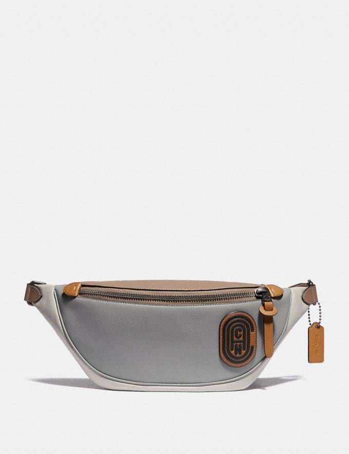 Coach Rivington Belt Bag in Colorblock With Coach Patch Ji/Washed Steel Men Bags Belt Bags