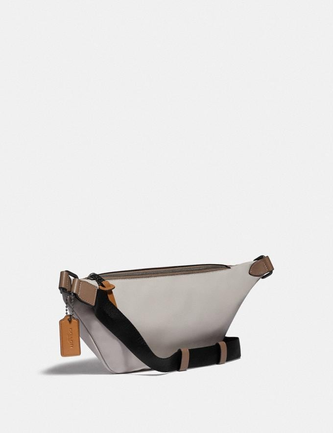 Coach Rivington Belt Bag in Colorblock With Coach Patch Ji/Washed Steel Men Bags Belt Bags Alternate View 1