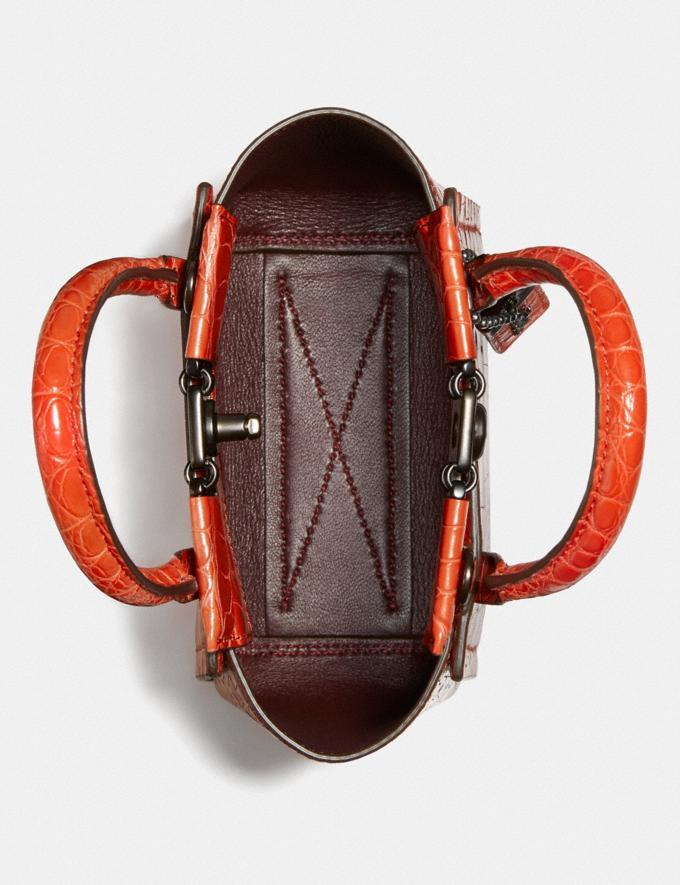 Coach Troupe Tote 16 in Alligator Pewter/Orange Women Handbags Crossbody Bags Alternate View 2