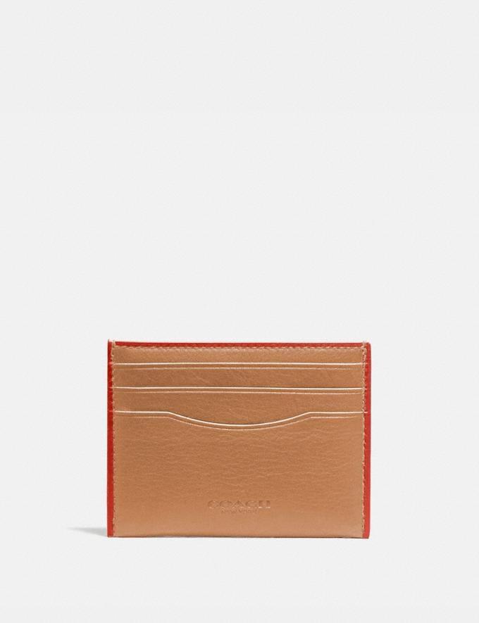 Coach Card Case Light Saddle/Mango Men Wallets Card Cases