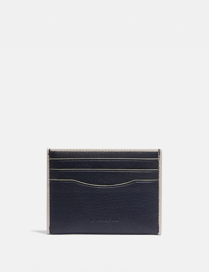 Coach Porte-Cartes Bleu Nuit/Os Homme Portefeuilles Porte-cartes
