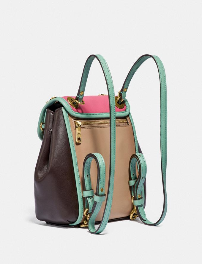 Coach Parker Convertible Backpack 16 in Colorblock Brass/Orchid Multi Women Handbags Backpacks Alternate View 1