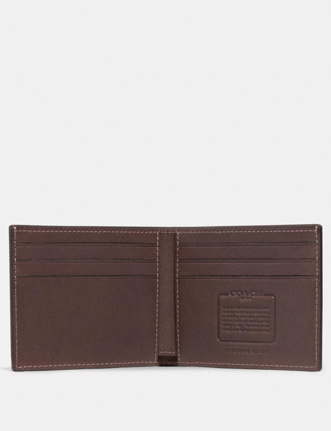 Coach Slim Billfold Wallet Mahagony Men Wallets Billfolds Alternate View 1