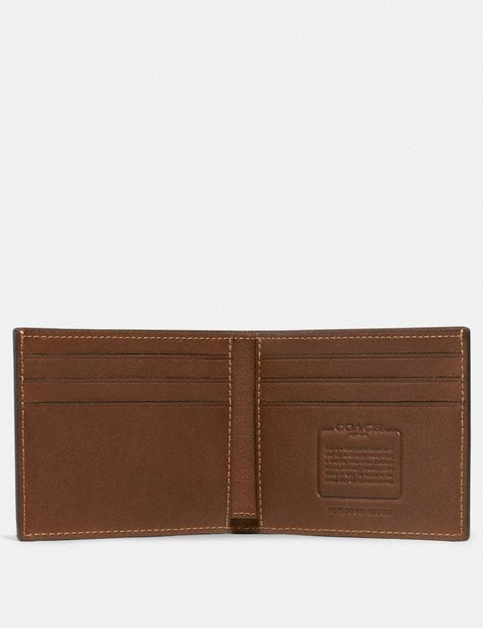 Coach Slim Billfold Wallet Saddle Men Edits Work Alternate View 1