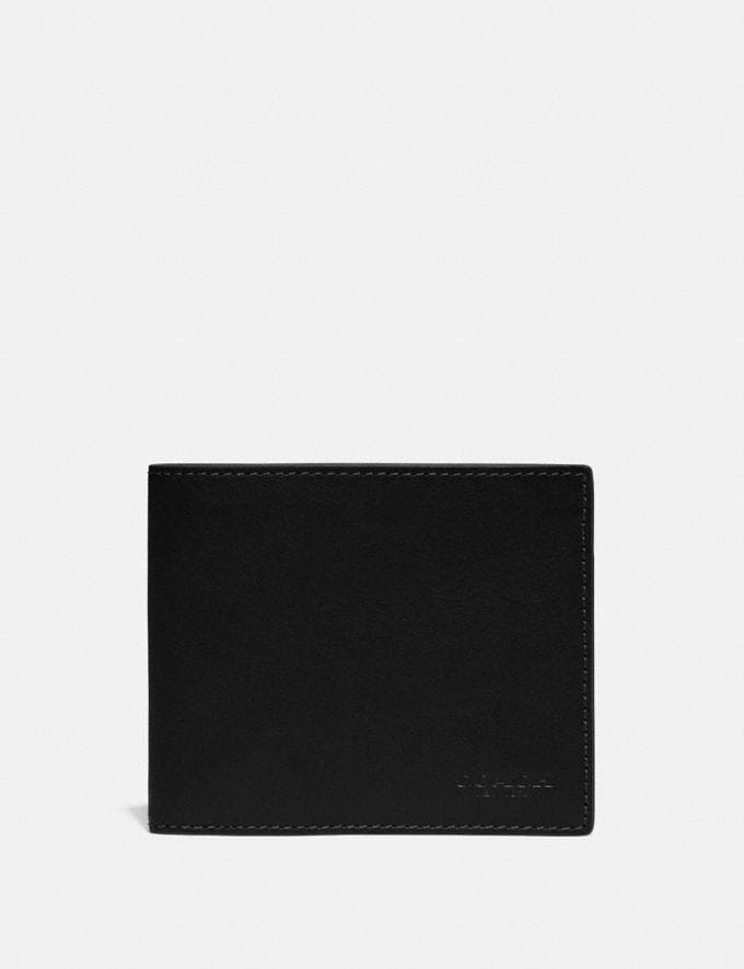 Coach 3-In-1 Wallet Black Men Wallets Billfolds