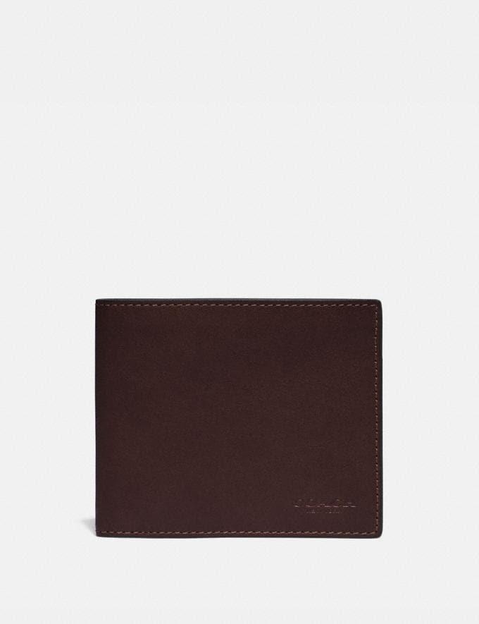 Coach 3-In-1 Wallet Mahagony Men Wallets Billfolds