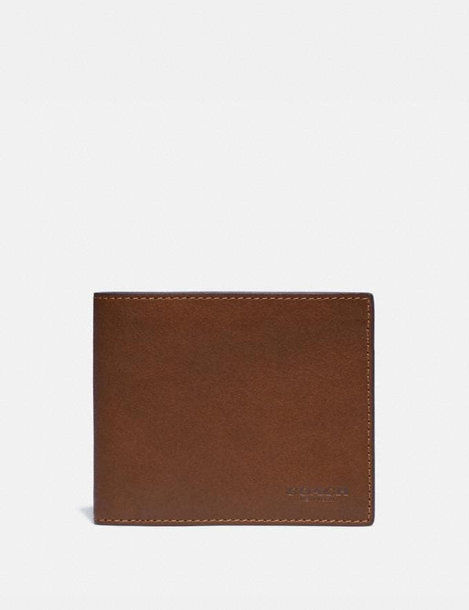 Coach 3-In-1 Wallet Saddle New Men's New Arrivals Bestsellers