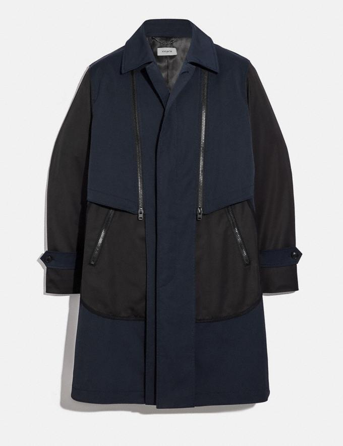 Coach Nylon Coat Black/Navy New Men's New Arrivals Collection
