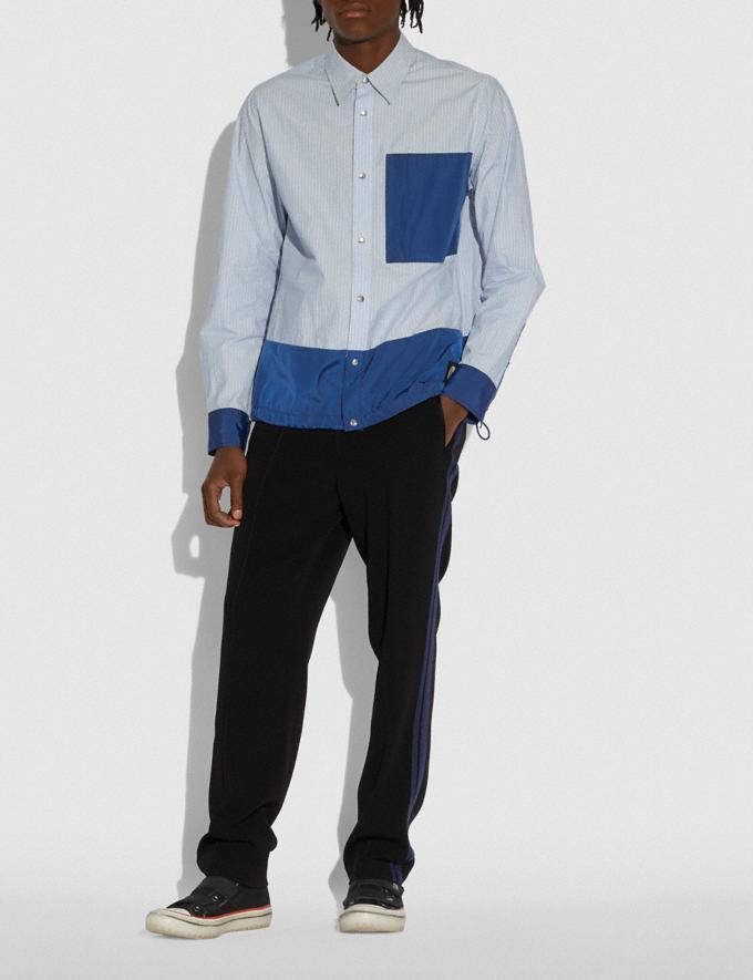 Coach Essential T-Shirt Blauer Streifen Herren Kleidung Oberteile & Hosen Alternative Ansicht 1