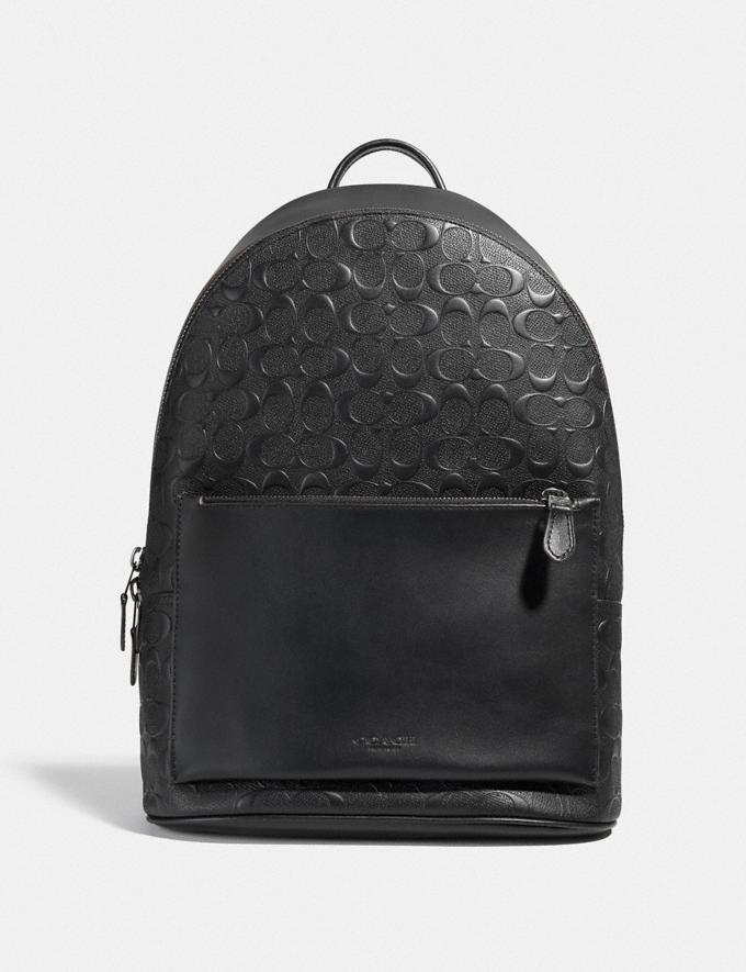 Coach Metropolitan Soft Backpack in Signature Leather Black Antique Nickel/Black DEFAULT_CATEGORY