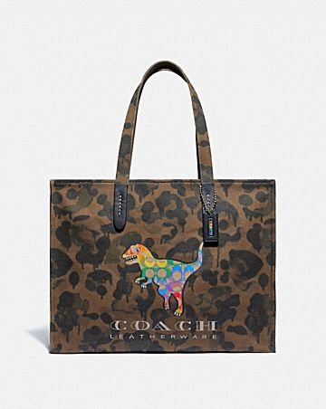 tote 42 with rainbow signature rexy
