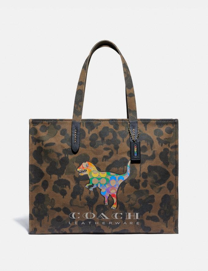 Coach Tote 42 With Rainbow Signature Rexy Ol/Multi Uomo Borse Borse larghe e borsoni