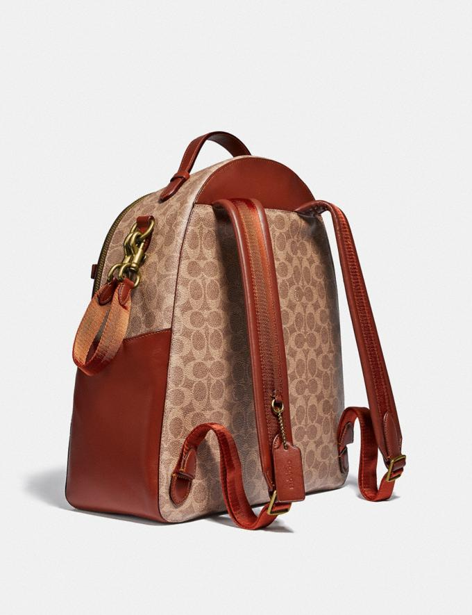 Coach Baby Backpack in Signature Canvas Brass/Tan Rust Women Handbags Diaper Bags Alternate View 1
