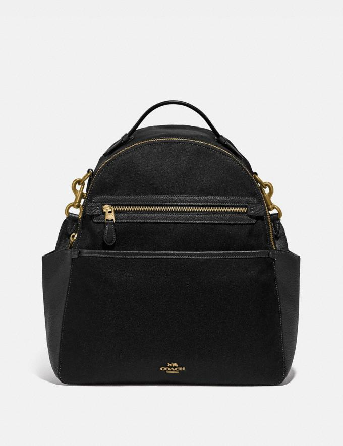 Coach Baby Backpack Brass/Black Women Bags Backpacks