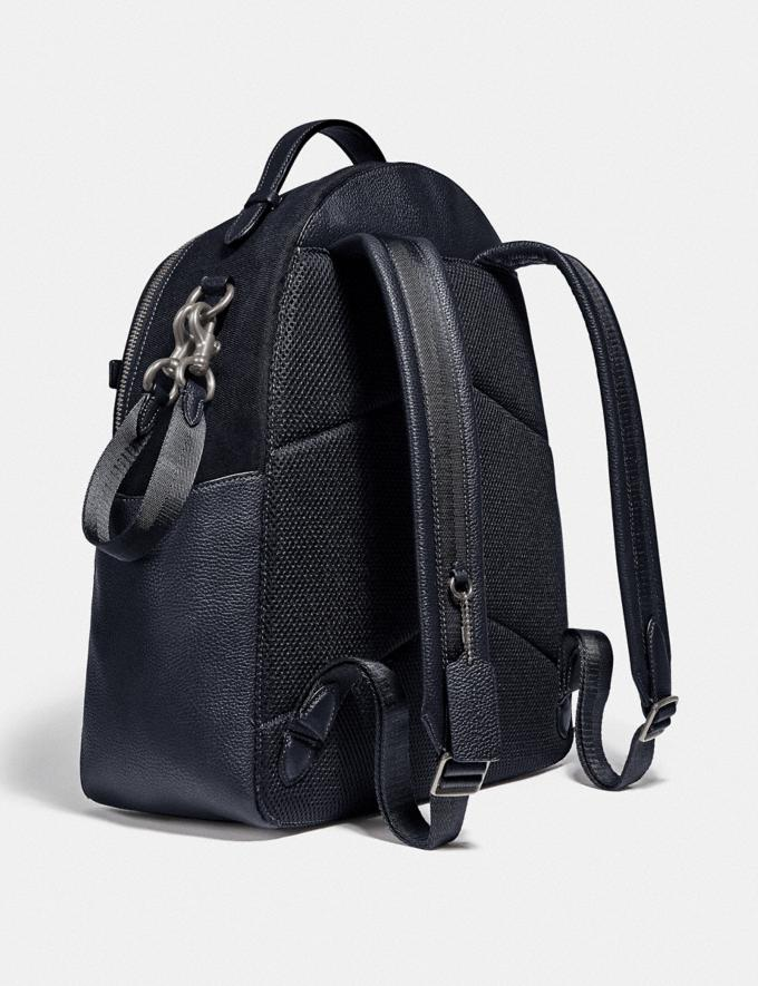 Coach Baby Backpack Light Antique Nickel/Midnight Navy Women Handbags Backpacks Alternate View 1