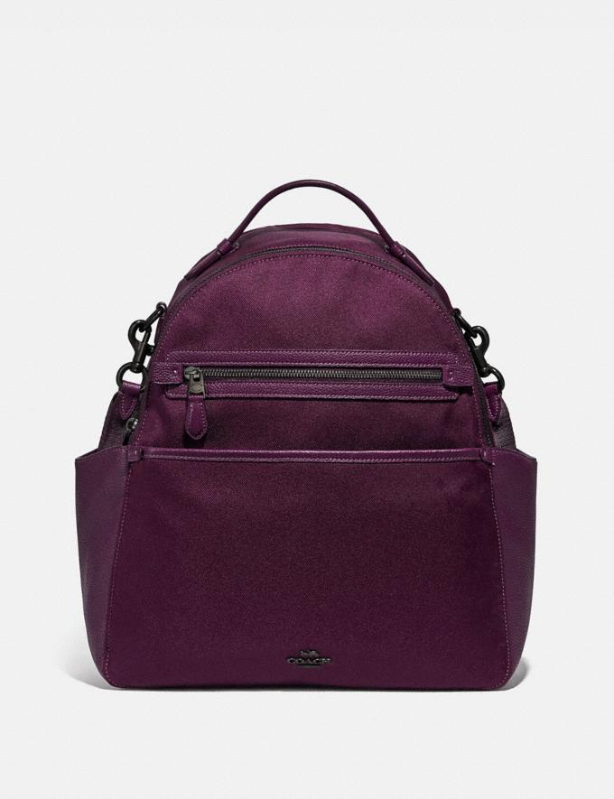 Coach Baby Backpack Pewter/Boysenberry Women Handbags Backpacks
