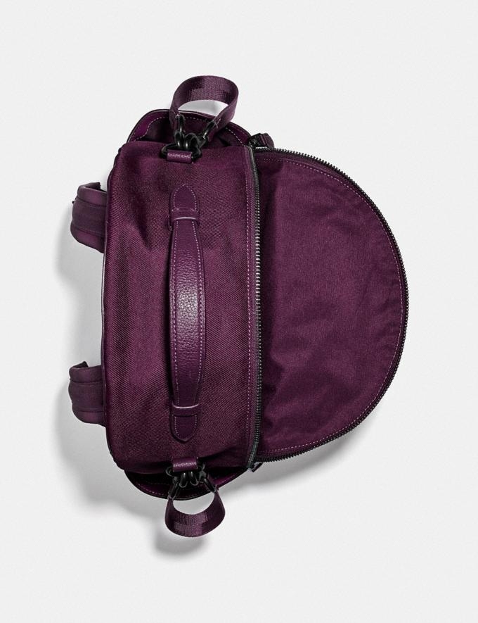 Coach Baby Backpack Pewter/Boysenberry  Alternate View 2