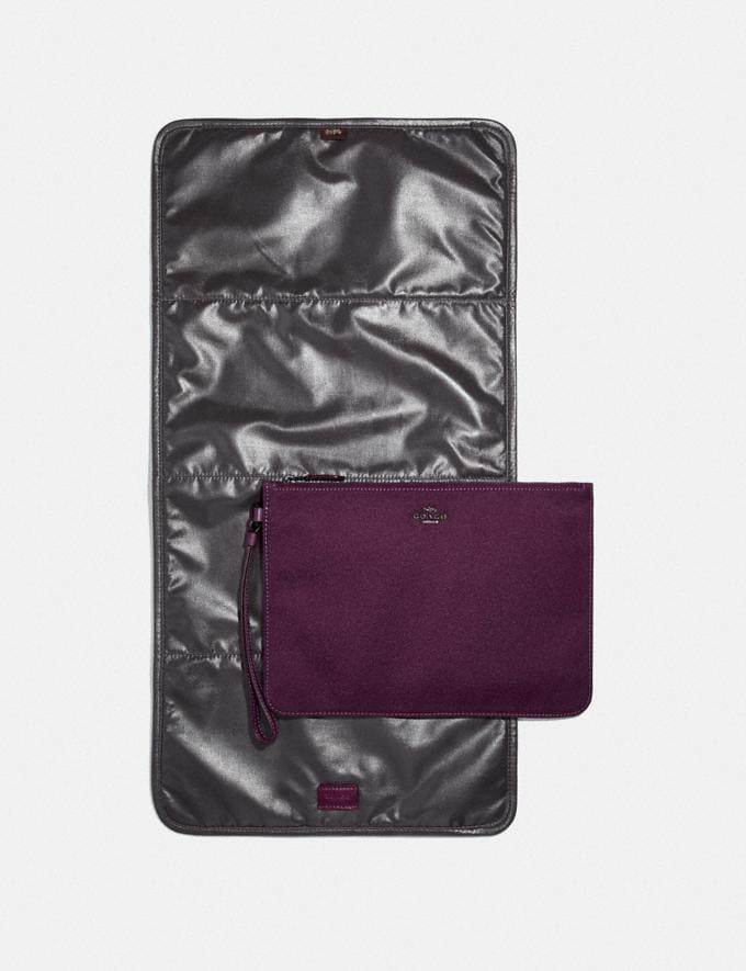 Coach Baby Backpack Pewter/Boysenberry Women Handbags Backpacks Alternate View 4