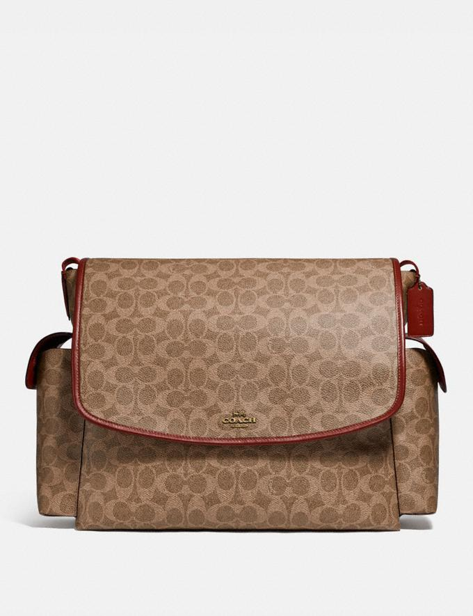 Coach Baby Messenger Bag in Signature Canvas Brass/Tan Rust Gifts For Her Under $500