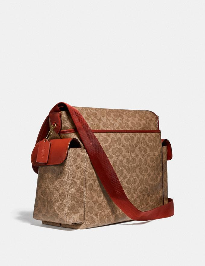 Coach Baby Messenger Bag in Signature Canvas Brass/Tan Rust Gifts For Her Under $500 Alternate View 1