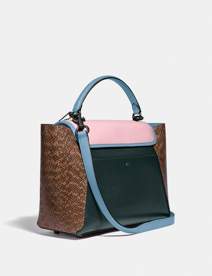 Coach Courier Carryall With Snakeskin Detail Pewter/Pine Green/Aurora Multi New Women's New Arrivals Collection Alternate View 1
