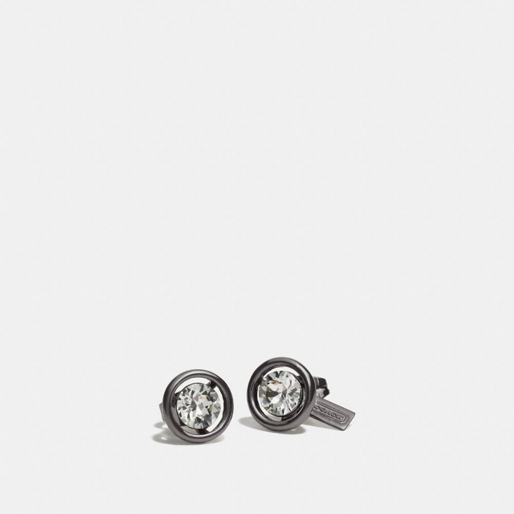 coach stud earrings coach halo stud earrings 4120