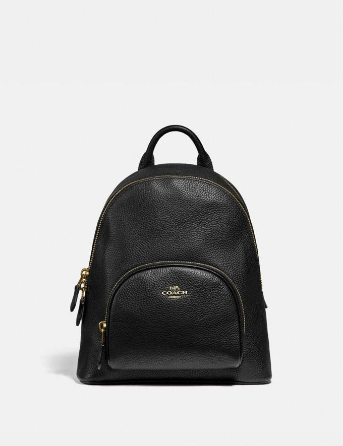 Coach Carrie Backpack 23 Brass/Black New Women's New Arrivals Bags